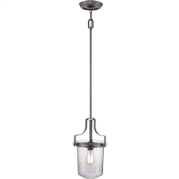 Elstead Lighting Quoizel QZ/PENNSTAT/S WT Penn Station Mini Ceiling Pendant