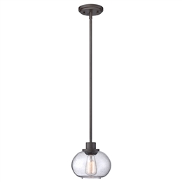 Elstead QZ/TRILOGY/MP Trilogy 1 Light Pendant in Old Bronze finish