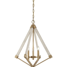 Elstead QZ/VIEWPOINT/S View Point 3 Light Chandelier