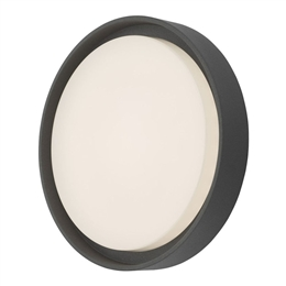 Dar Lighting RAL5039 Ralph Round Exterior outside garden light with a LED Light