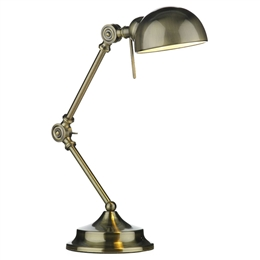 Dar RAN4075 Ranger Antique Brass Table Lamp 