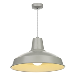 David Hunt REC0139 Reclamation Powder Grey Pendant