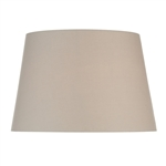 Dar Lighting S1099 Cream Cotton Tapered drum shade