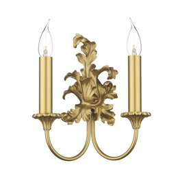 David Hunt Lighting Ormolu SC22 Twin Wall Light