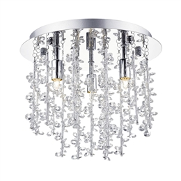 Dar Lighting SES5250 Sestina 3 light Polished Chrome flush fitting