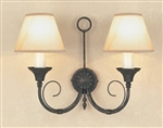 IMPEX SMRR00112/BLKG Classica Twin Wall Light
