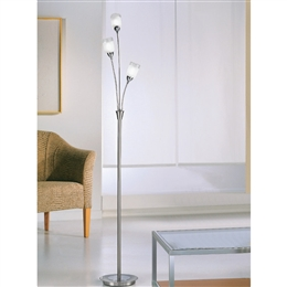 Franklite SP80023 Campani Silver 3 Light Floor Lamp..
