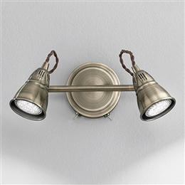 Franklite SPOT8952 Rustica 2 light Bronze Wall Light