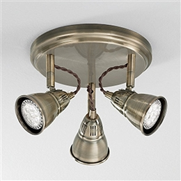 Franklite SPOT8953 Rustica 3 light Bronze Spotlight