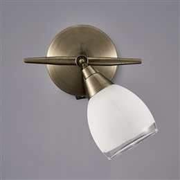 Franklite SPOT8981 Lutina 1 light switched Spot in Bronze finish