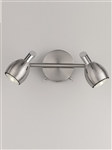 Franklite SPOT9002 Tivoli 2 Light LED Spot in Satin Nickel Finish