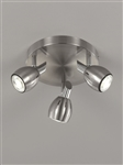 Franklite SPOT9003 Tivoli 3 Light LED Spot in Satin Nickel Finish
