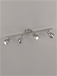 Franklite SPOT9004 Tivoli 4 Light LED Spot in Satin Nickel Finish