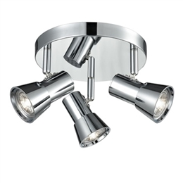 Franklite SPOT9033 Aime 3 Light Spotlight plate in Chrome finish