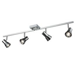 Franklite SPOT9034 Aime 4 Light Spotlight Bar in Chrome finish