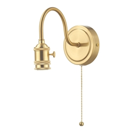 Dar SPW0740 Wall Bracket in Natural Brass finish