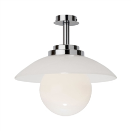 KANSA STRATTON39 Stratton Duo Pendant Up Lighter with White Opal Glass