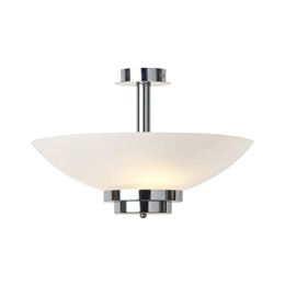 KANSA STRATTON64 Stratton Pendant Up Lighter with White Opal Glass