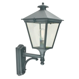 Elstead T1 Black Turin Up Pointing Wall Lantern.