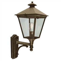 Elstead T1 Black/Gold Turin Up Pointing Wall Lantern.