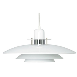 Belid Primus T1213-14 White and Chrome Fixed Pendant.