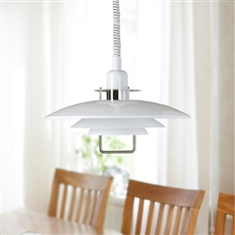 Belid Primus II T1214-14  White And Chrome Rise And Fall Pendant