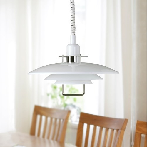 Belid primus ii t1214 14 white and chrome rise and fall pendant our mozeypictures Images