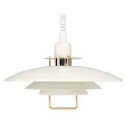 Belid Lighting Primus II T1214-15 White and Gold Finish Rise and Fall Pendant