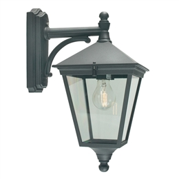 Elstead Norlys T2 Black Turin Down Pointing Wall Lantern.