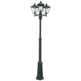 Elstead Norlys T7 Turin Black Triple Headed Lamp Post
