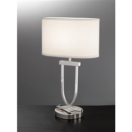Hull Lighting TL870 One Light Table Lamp With Chrome Finish