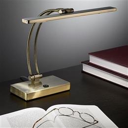 Franklite TL893 LED Desk Lamp in Bronze finish.