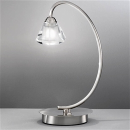 Hull Lighting TL971 Twista Satin Nickel Table Lamp