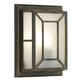Dar TRE5254 Trent Black Gold Garden Wall Light