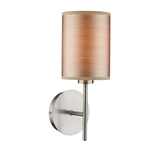 Dar Lighting TUS0746 Tuscan Satin Chrome Wall Light