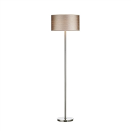 Dar Lighting TUS4946 Tuscan Satin Chrome Floor Lamp