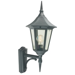 Elstead V1 Black Valencia Up Pointing Wall Lantern.