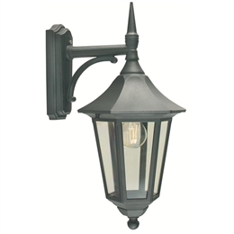 Elstead V2 Black Valencia Down Pointing Wall Lantern.