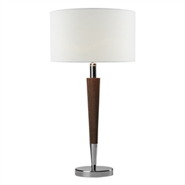 Dar Lighting VIK4081 Viking Black Table Lamp with Black Shade.TL8071