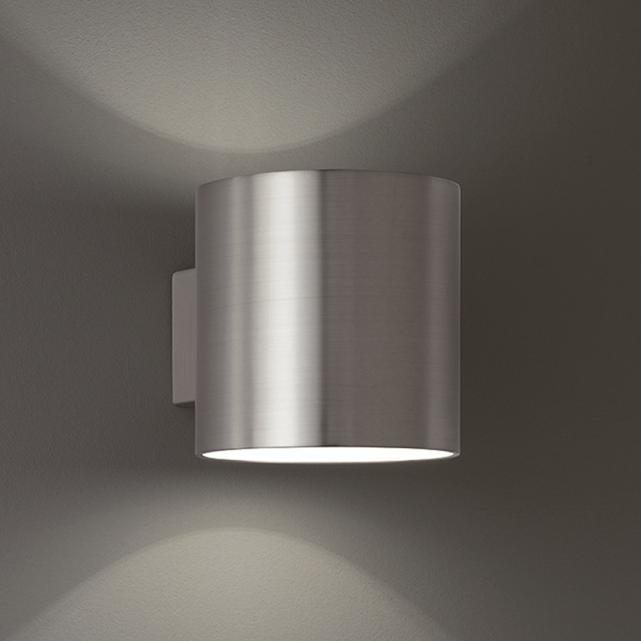 Franklite wb066 bi directional wall light in satin nickel finish mozeypictures Image collections