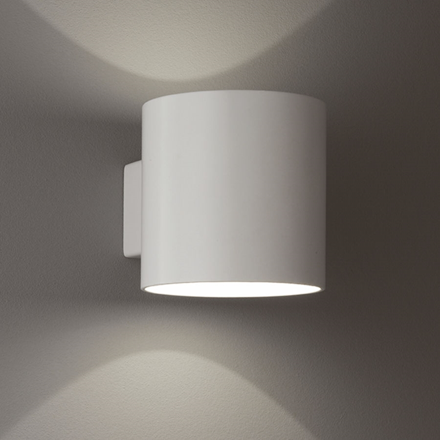 Franklite wb067 bi directional wall light in satin white finish mozeypictures Image collections