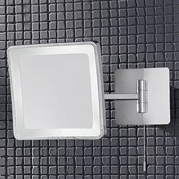 Chrome Adjustable Bathroom Illuminated Mirror IP44