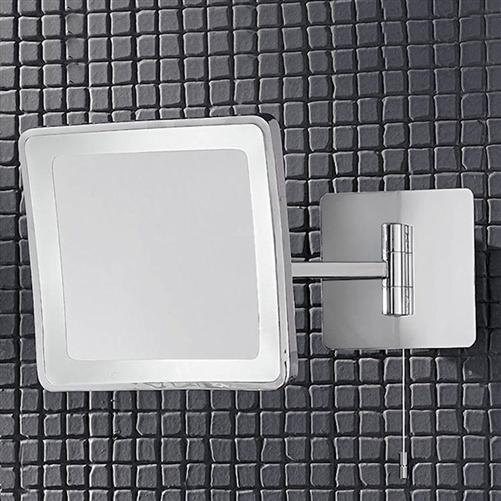 Adjustable Bathroom Wall Mirrors: Franklite WB951EL Illuminated Adjustable Bathroom Mirror
