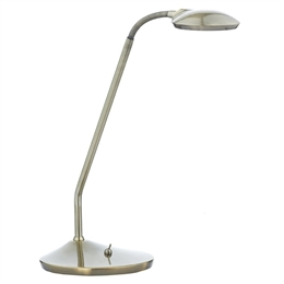 Dar Lighting WEL4075 Wellington Table Lamp in Antique Brass Finish