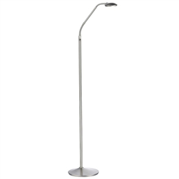 Dar Lighting WEL4946 Wellington Floor Lamp in Satin Chrome Finish