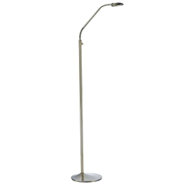 Dar Lighting WEL4975 Wellington Floor Lamp in Antique Brass Finish