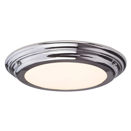 Elstead WELLAND/F PC Flush LED Bathroom Ceiling light in Polished Chrome finish