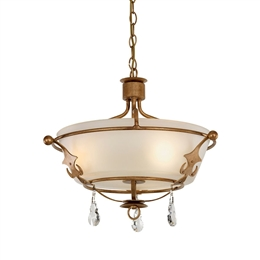 Elstead WINDSOR/SF Windsor 3 Light Fitting in Gold Patina