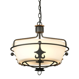 Elstead WINDSOR/SF GR Windsor 3 Light Fitting in Graphite finish