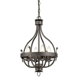 Elstead WINDSOR4 GR Windsor 4 Light Chandelier in Graphite finish